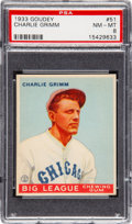 Baseball Cards:Singles (1930-1939), 1933 Goudey Charlie Grimm #51 PSA NM-MT 8 - None Higher!...