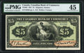 Canadian Currency, Kingston, Jamaica- Canadian Bank of Commerce 5 Pounds 1.3.1921 Ch.#75-24-04 Pick Jamaica S152a PMG Choice Extremely Fine ...
