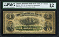 Canadian Currency, St. John, NB- Maritime Bank of the Dominion of Canada $4 2.1.1873 Ch.# 425-10-02 PMG Fine 12.. ...