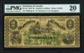 Canadian Currency, DC-3d $2 1.7.1870 Payable at Halifax PMG Very Fine 20.. ...