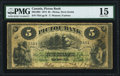 Canadian Currency, Pictou, NS- Pictou Bank $5 2.1.1874 Ch.# 595-10-04 PMG Choice Fine15.. ...