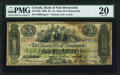 Canadian Currency, St. John, NB- Bank of New Brunswick $5 1.9.1868 Ch.# 515-14-26 PMGVery Fine 20.. ...
