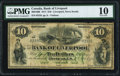 Canadian Currency, Liverpool, NS- Bank of Liverpool $10 1.11.1871 Ch.# 400-10-06 PMGVery Good 10.. ...