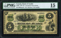 Canadian Currency, Liverpool, NS- Bank of Acadia $5 2.12.1872 Ch.# 5-10-04 Serial Number 20 PMG Choice Fine 15.. ...