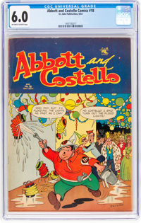Abbott and Costello #18 (St. John, 1953) CGC FN 6.0 Off-white to white pages