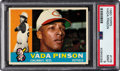 Baseball Cards:Singles (1960-1969), 1960 Topps Vada Pinson #176 PSA Mint 9 - Pop Two, One Higher....