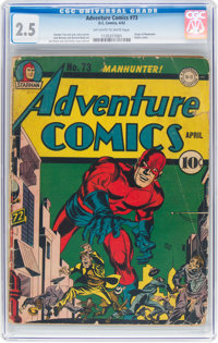Adventure Comics #73 (DC, 1942) CGC GD+ 2.5 Off-white to white pages