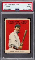 Baseball Cards:Singles (Pre-1930), 1915 Cracker Jack Ty Cobb #30 PSA Mint 9....