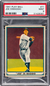 1941 Play Ball Joe DiMaggio #71 PSA Mint 9