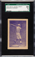 Baseball Cards:Singles (1930-1939), 1933 Uncle Jacks Candy Rogers Hornsby SGC 60 EX 5. ...