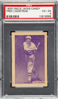Baseball Cards:Singles (1930-1939), 1933 Uncle Jacks Candy Freddy Lindstrom PSA VG-EX 4. ...