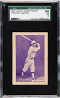 Baseball Cards:Singles (1930-1939), 1933 Uncle Jacks Candy Pepper Martin SGC 60 EX 5 - Pop One, None Higher! ...