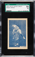 Baseball Cards:Singles (1930-1939), 1933 Uncle Jacks Candy Dazzy Vance SGC 84 NM 7. ...