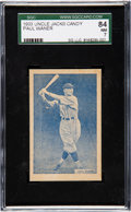 Baseball Cards:Singles (1930-1939), 1933 Uncle Jacks Candy Paul Waner SGC 84 NM 7 - None Higher. ...