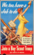 Movie Posters:War, World War II Boy Scout Recruitment Poster by Remington Schuyler(U.S. Government Printing Office, 1942). Rolled, Fine/Very Fin...