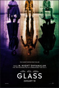 "Glass (Universal, 2019). Rolled, Very Fine+. One Sheet (27"" X 40"") DS Teaser. Thriller"