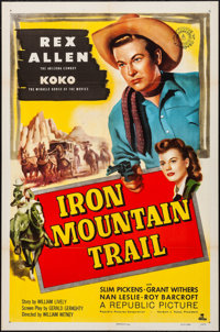 "Iron Mountain Trail & Other Lot (Republic, 1953). Folded, Very Fine-. One Sheets (2) (27"" X 41""). West..."