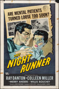 "Movie Posters:Film Noir, The Night Runner & Other Lot (Universal International, 1957).Folded, Overall: Fine/Very Fine. One Sheets (2) (27"" X 41""). F...(Total: 2 Items)"