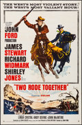 """Movie Posters:Western, Two Rode Together & Other Lots (Columbia, 1961). Folded,Fine/Very Fine. One Sheets (3) (27"""" X 41"""" & 27"""" X 42"""").Western.. ... (Total: 3 Items)"""