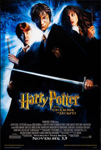 "Harry Potter and the Chamber of Secrets (Warner Brothers, 2002). Rolled, Very Fine. One Sheet (27"" X 40"") SS A..."