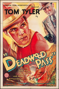 "Deadwood Pass (Monarch, 1933). Folded, Fine/Very Fine. One Sheet (27"" X 41""). Western"