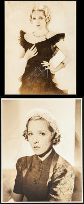 """Mary Pickford Lot (1920s) Very Fine-. Autographed Portrait Photos (2) (6.5"""" X 8.5"""" & 7.25"""" X 9.5&..."""