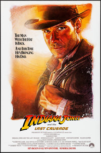 """Indiana Jones and the Last Crusade (Paramount, 1989). Rolled, Very Fine+. One Sheet (27"""" X 41""""). SS Advance, S..."""