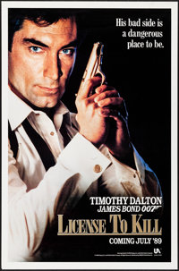 """Licence to Kill (United Artists, 1989). Rolled, Very Fine. One Sheets (2) (27"""" X 41"""") 2 Styles & Inter..."""