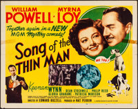 """Song of the Thin Man (MGM, 1947). Folded, Fine/Very Fine. Half Sheet (22"""" X 28"""") Style A. Mystery"""