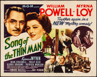 "Song of the Thin Man (MGM, 1947). Folded, Fine/Very Fine. Half Sheet (22"" X 28"") Style B. Mystery"