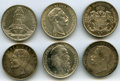 German States, German States: 6-Piece Lot of Uncertified Assorted 3 Marks,...(Total: 6 coins)