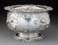 Silver & Vertu:Hollowware, A Frank W. Smith Silver Co., Inc. Silver Punch Bowl with Elaborate Floral Chased Repoussé Decoration, Gardner, Massachusetts...