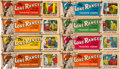 """Non-Sport Cards:Lots, 1950's Ed-U-Cards """"Lone Ranger"""" Complete Set (40 Panels) - In Original Display Boxes!..."""