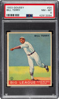 Baseball Cards:Singles (1930-1939), 1933 Goudey Bill Terry #20 PSA NM-MT 8 - Only One Higher....