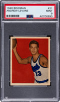 Basketball Cards:Singles (Pre-1970), 1948 Bowman Andrew Levane #21 PSA Mint 9 - None Higher....