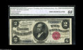 Large Size:Silver Certificates, Fr. 245 $2 1891 Silver Certificate CGA Gem Uncirculated 68....