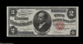 Large Size:Silver Certificates, Fr. 246 $2 1891 Silver Certificate Extremely Fine-About New....
