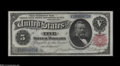 Large Size:Silver Certificates, Fr. 267 $5 1891 Silver Certificate Superb Gem New....