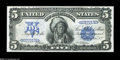 Large Size:Silver Certificates, Fr. 271 $5 1899 Silver Certificate Superb Gem New....