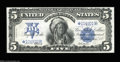 Large Size:Silver Certificates, Fr. 279 $5 1899 Silver Certificate Star Note About New....