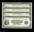 Fr. 738 $1 1918 Federal Reserve Bank Note Cut Sheet of Four Choice New. Superb Gems in every sense, but for the very lig...