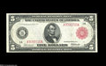 Fr. 832b $5 1914 Red Seal Federal Reserve Note Choice Extremely Fine. Beautifully margined, with all its original emboss...