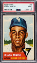 Baseball Cards:Singles (1950-1959), 1953 Topps Minnie Minoso #66 PSA Mint 9 - None Higher....