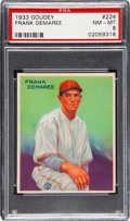 Baseball Cards:Singles (1930-1939), 1933 Goudey Frank Demaree #224 PSA NM-MT 8 - None Higher....