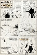Original Comic Art:Comic Strip Art, Phil Davis Mandrake the Magician Original de la planche dudimanche 11 septembre 1955 (King Features Syndicate, 19...