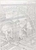 Original Comic Art:Illustrations, François Schuiten Le Rail Illustration (2009)....
