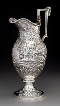 Silver Holloware, American, A S.Kirk & Son Repoussé Coin Silver Landscape Ewer, Baltimore,Maryland, 1846-1896. Marks: S. KIRK & SON, 11OZ. 15-1/2x...