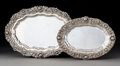 Silver & Vertu, Two Tiffany & Co. Chrysanthemum Pattern Silver Platters, New York, designed 1880, produced 1892-1902. Marks: T... (Total: 2 Items)