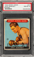 Boxing Cards:General, 1933 Goudey Sport Kings Jack Dempsey #17 PSA NM-MT 8....