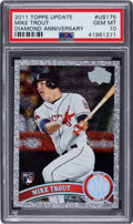 Baseball Cards:Singles (1970-Now), 2011 Topps Update - Diamond Anniversary Mike Trout #US175 PSA Gem Mint 10. ...